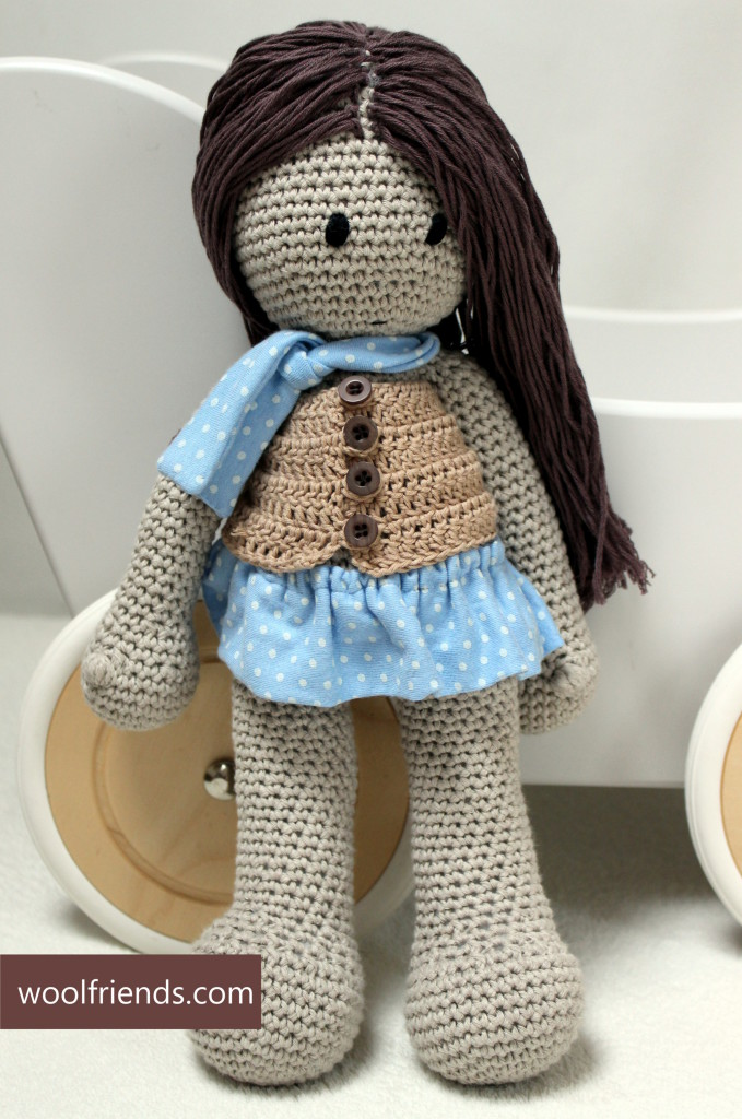 crochet doll long hair